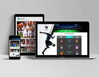 Diseño web sitio deportivo
