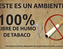 Aviso de Prohibición zona libre de humo