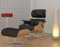 Eames lounge chair - Render