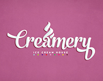 Logo Creamery Ice Cream House