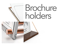 Brochure holders for a store