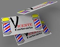 Logomarca Barbearia Vicente