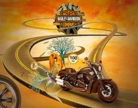 A hotsite for Harley-Davidson Brasil - Evermedia