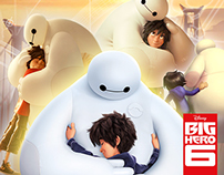 Advertising for the movie Big Hero 6