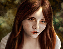 Ginger Girl (Digital Painting)