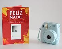 Cartão de Natal Polaroid