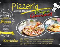 Flayer para pizzeria y menu