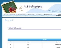 School Web System / Sistema para gestión de Escuela