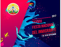 Diseño Gráfico: Fiesta Nacional del Inmigrante 2017