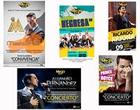 Algunos ejemplos de artes para promoción de conciertos