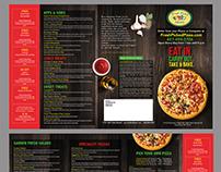 Brochure - Menu pizza and more