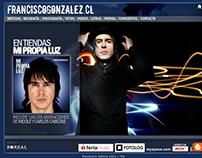 Sitio web promocional cantautor Francisco Gonzalez