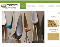 Pagina de Amoblamiento Capri