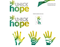 Branding design for Unick Hope. Site and Key visual