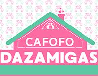 Logo e Capa para Facebook - Cafofo Dazamigas