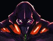 E.V.A 01 do anime Neon Genesis Evangelion