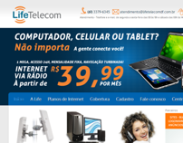 Site da Life Telecom - Internet via rádio