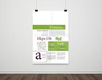 Minion Pro - Especimen Tipografico