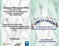Folder Curso de Mediação em Centros de Ciência e Museus