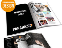 Paparazzi indesign Magazine Template