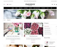 Flowers Shop Website Design