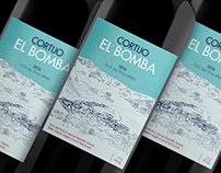 Wine label for Cortijo el Bomba