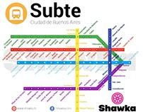 Rediseño del mapa de subtes de Buenos Aires