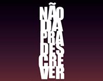 """Cartaz All Type: """"Não existe amor em SP"""""""