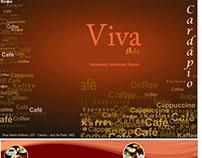 Projeto cardápio para restaurante Viva Gula