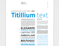 Specimen Titillium text