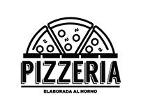 Pizzería logo design