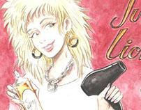 """Creación de ilustración para Estilita """"Julia Lion Hair"""""""