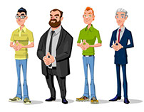 Criação e ilustração (Personagens)