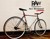 """Rei Sentouki"" custom painted bicycle frame."
