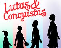 Logotipo e capa para jogo Lutas & Conquistas