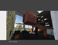 Interior módulo habitacional- jovem alpinista