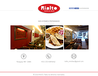 Rialto Bar - Diseño y desarrollo de Sitio Web