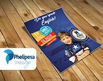 Flyer projeto bilíngue - Colégio Educandário de Maria