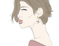 Profile Girl Illustration
