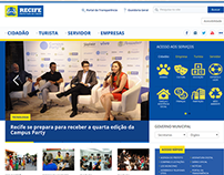 Novo portal da Prefeitura do Recife