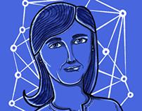 Sheryl Sandberg editorial ilustration
