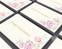 Tarjeta de presentación Claudia