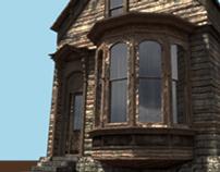 exterior render cabin