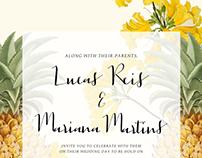 Wedding invitation (Mari e Lucas)