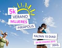 5k Verano Mujeres - Piriapolis 2015   Afiche