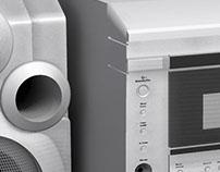 Modelado Inorgánico : Equipo de Sonido.