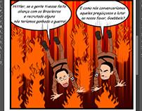 Hitler e Goebbels caindo no inferno