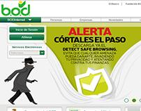 Nueva pagina comercial del Banco Occidental de Descuent