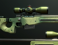AWP Sniper Rifle Lowpoly model