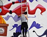 projeto de graffiti da 23 de Maio, São Paulo, 2015